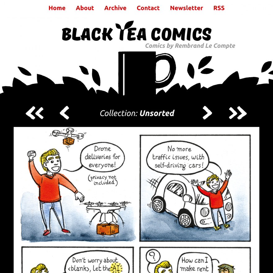 Black tea comics